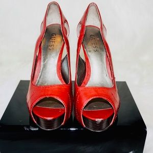 Guess Red High Heel Shoes